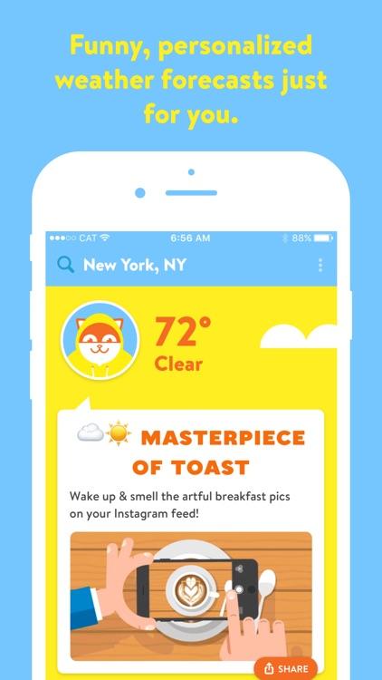 Poncho: Wake Up Weather screenshot-0