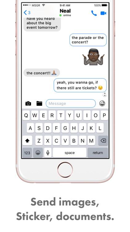 MSGR Messenger – Simply professional screenshot-3
