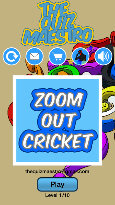 Zoom Out Cricket Game Quiz Maestro screenshot one