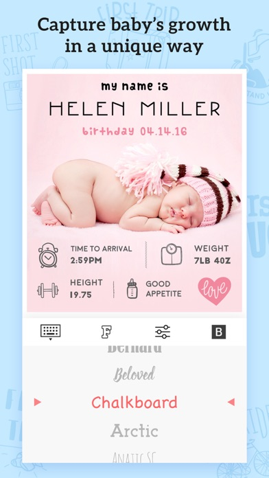 Baby Photos – Add Text, Caption&Sticker to Picture screenshot three