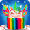 DIY Unicorn Rainbow Cake Cooking! Sweet Dessert