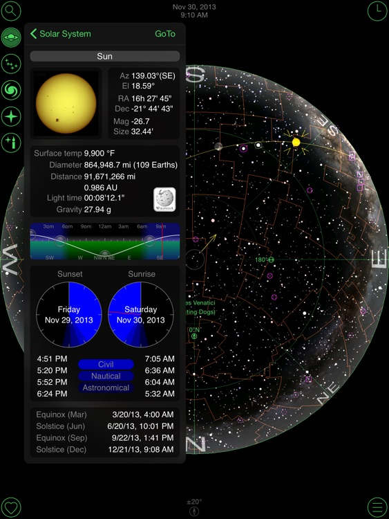 GoSkyWatch Planetarium for iPad - Astronomy Guide