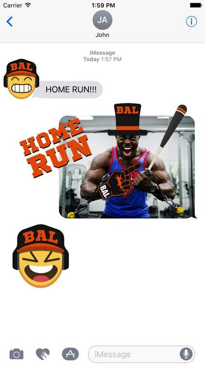 Baltimore Baseball Stickers & Emojis screenshot-1
