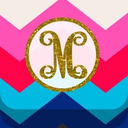 Monogram Wallpaper DIY Glitter Backgrounds Maker