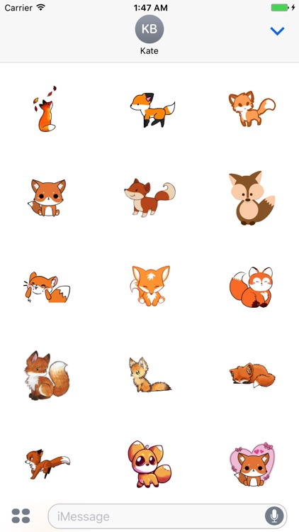 FoxSet - Awesome Fox Stickers And Emoji