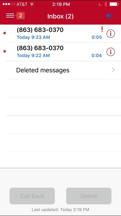 Frontier Voicemail Viewer screenshot-3