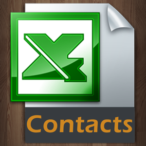 Contacts to Excel app