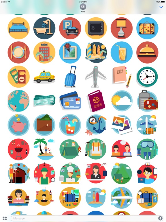 Travel - Stickers Pack for iMessage-ipad-1
