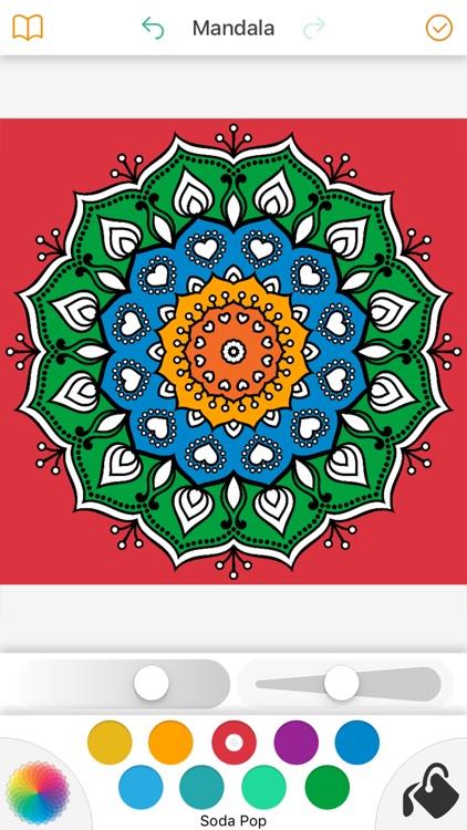 Mandala Coloring Book 4 Adults screenshot-3