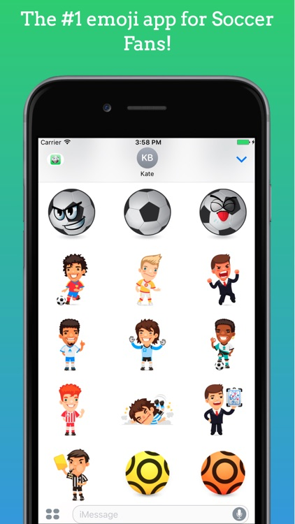 FootMoji PRO - Soccer Emoji & Stickers screenshot-0