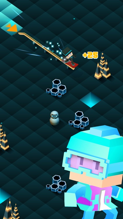 Blocky Snowboarding - Endless Arcade Runner screenshot-3