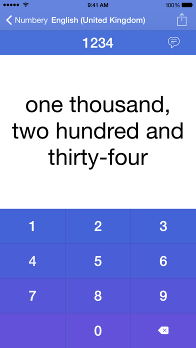 Numbery : convert numbers into words screenshot four
