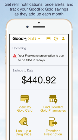 fe2bb00f3b8b GoodRx Gold on the App Store