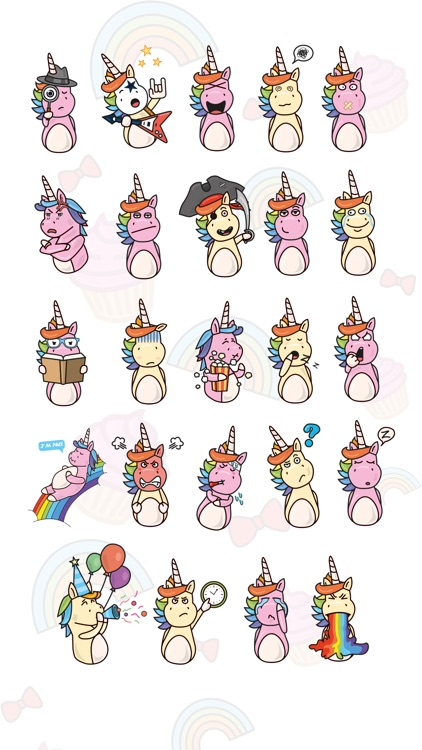 Rainbow Unicorn - 80 HD Keyboard Emojis & Stickers