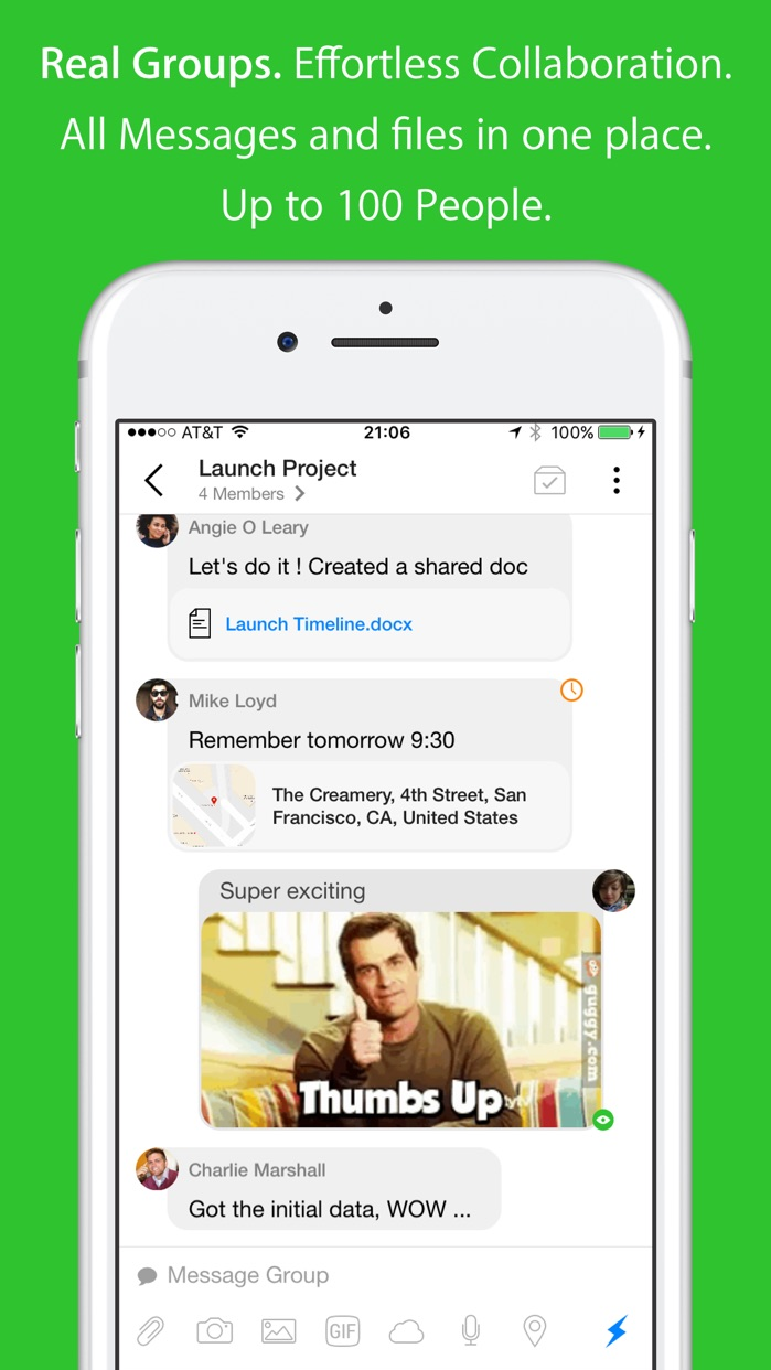 Hop - Super Fast, Powerful email & Video calls Screenshot