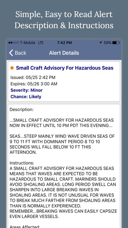 NOAA Marine Weather Forecast Alerts & Warnings screenshot-3