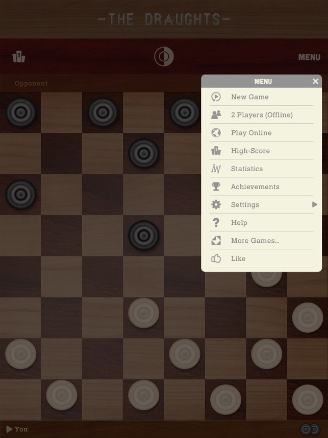 The Draughts Checkers on the App