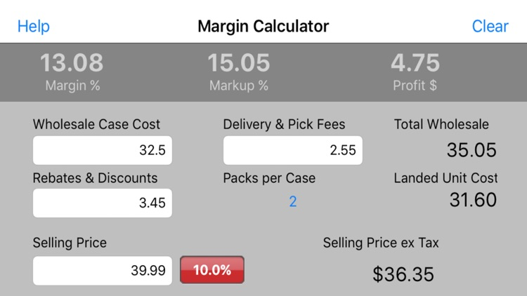 Beverage Margin Calculator