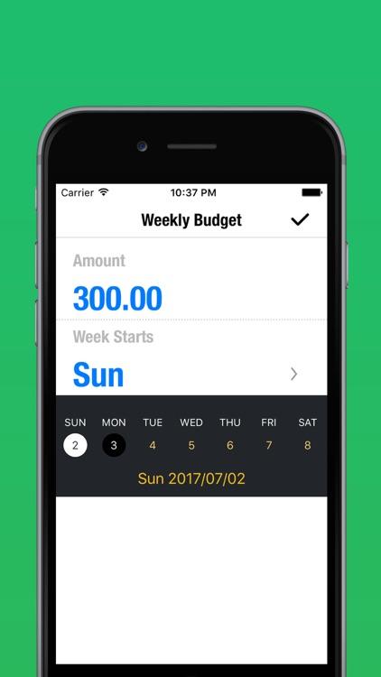 My Weekly Budget Planner - Money & Expense Tracker screenshot-3