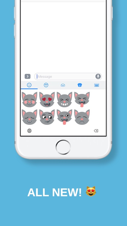 Cat + Kitty Emojis & Stickers - Cat Moji!