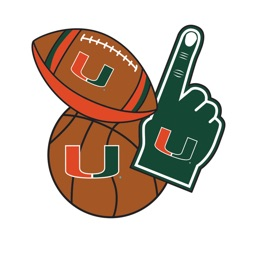 Miami Hurricanes Selfie Stickers