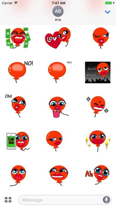 Animated Orange Balloon Emoji screenshot 2
