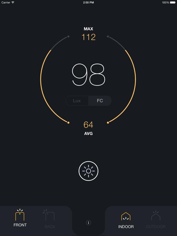 Lux Light Meter Pro screenshot