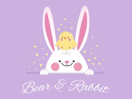 Downloads Bear and Rabbit Stickers and enjoy