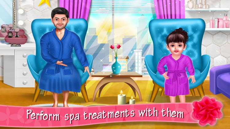 Aadhya's Spa Makeover Day With Daddy screenshot-3
