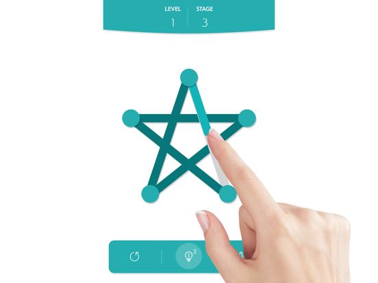1LINE one-stroke puzzle game на iPad