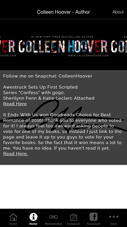 Colleen Hoover - Author screenshot-1