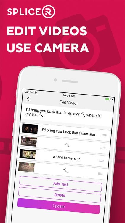 Splicer: turn text to movie screenshot-3
