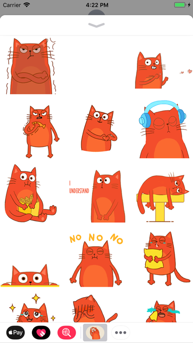 Red Cat Animated Stickers screenshot one