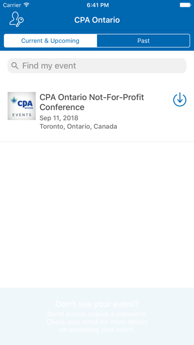CPA Ontario Events screenshot two
