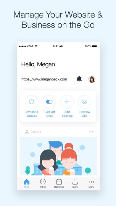 Screenshot 0 for Wix's iPhone app'