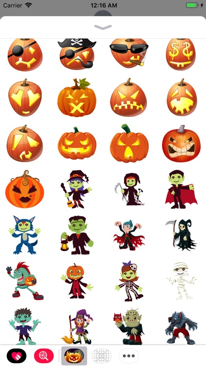 Halloween Emoji Chat Keyboard screenshot-3