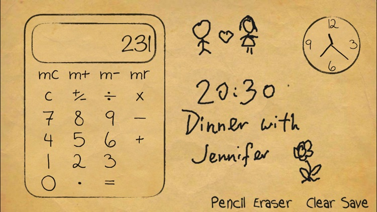 Paper Calculator & Clock screenshot-2