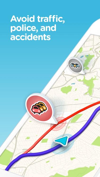 Waze Navigation & Live Traffic screenshot-0