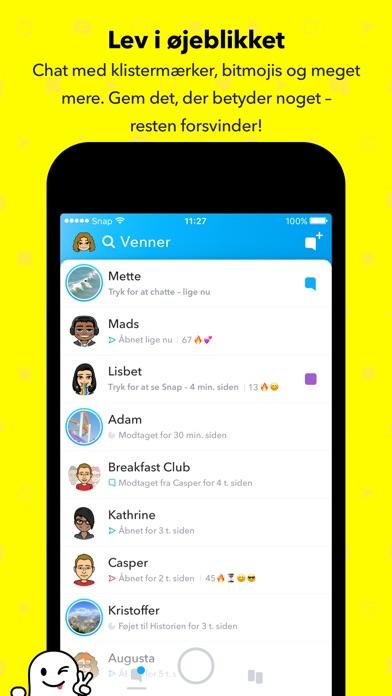 Screenshot for Snapchat in Denmark App Store