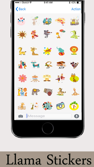 Llama Stickers Emojis screenshot 2
