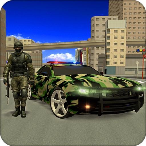 米軍の車の運転手の訓練