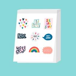Sarah Klassen Sticker Book Pg1