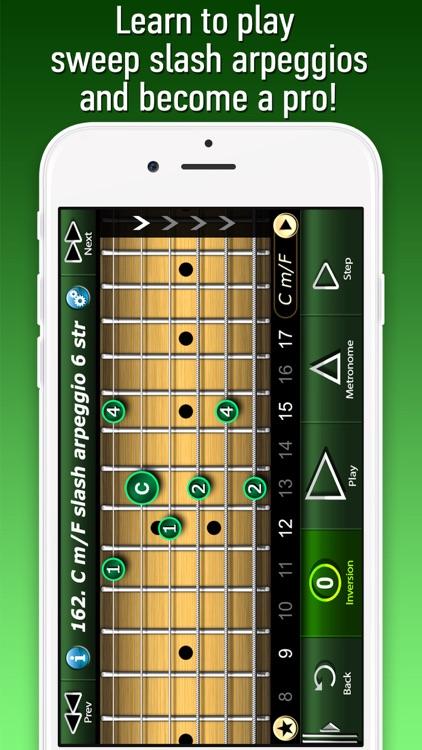 Sweep Slash Arpeggio on Guitar