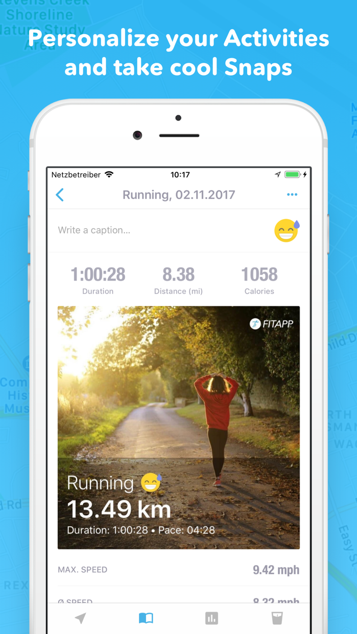 Running Walking Jogging FITAPP Screenshot