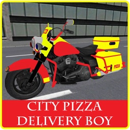 City Pizza Delivery Boy