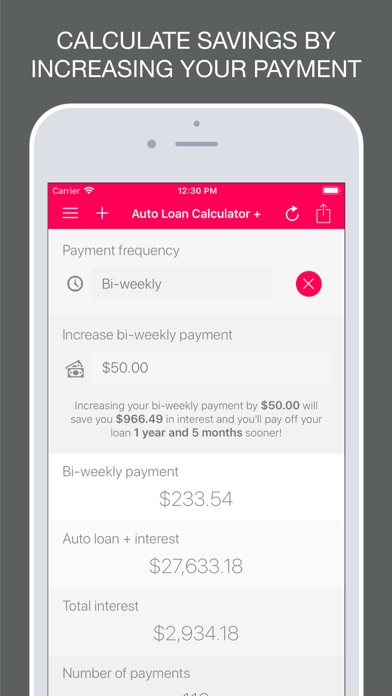 Auto Loan Calculator   App  Appstore