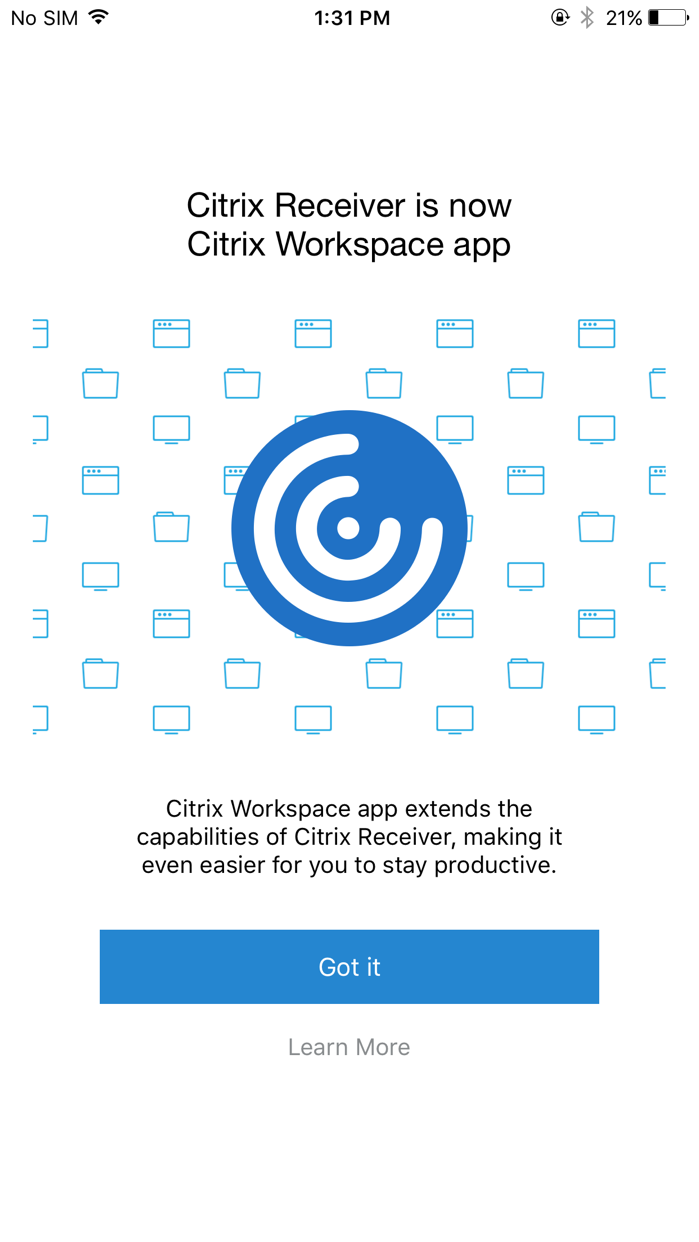 Citrix Workspace Screenshot