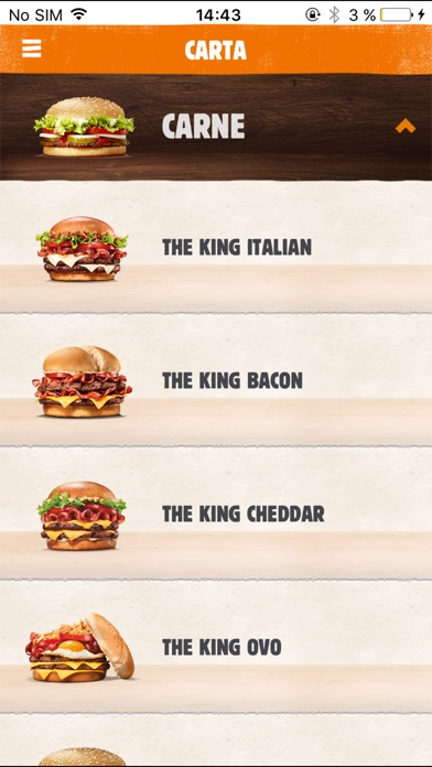 Screenshot for BURGER KING - Portugal in Portugal App Store