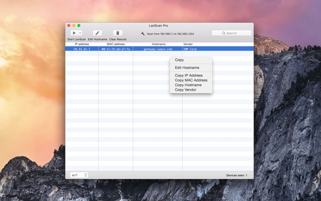 LanScan on the Mac App Store