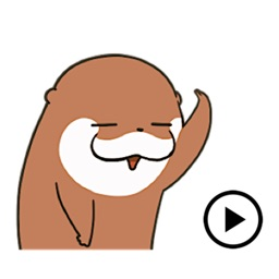 Animated Lovely Otter Sticker
